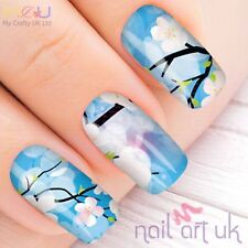 Vivid Blue Orchid Water Decal Nail Art Stickers, Decals, Tattoos