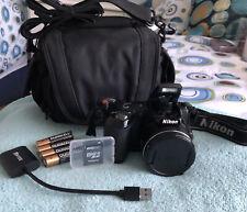 Nikon COOLPIX L120 14.1MP Digital Camera~~Black~~Nr MINT~~8GB SD~~Bundle~~