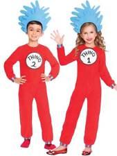Kids Cat In The Hat Thing 1+2 Fancy Dress Costume Girls Boys Dr Seuss Book Week