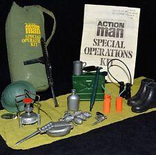 ☆ ☆ Vam PALITOY ACTION MAN KIT de Operaciones Especiales Bolsa completa en muy buena condición ☆ c1970-77 ☆