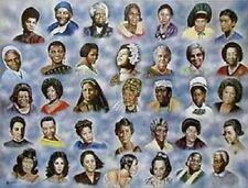African American Art Print - 35 Great Ladies 24 x 36 - Hulis Mavruk - New!