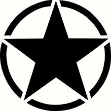 Army Star Vinyl Sticker Decal Military - Choose Size & Color