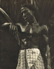 Vintage Lionel Wendt Ennui Asian Male Semi Nude Ceylon Photogravure Photo Print
