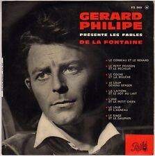 """GERARD PHILIPE """"LES FABLES DE LA FONTAINE"""" 60'S EP PATHE 960"""