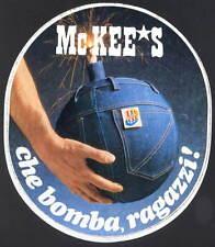 MC KEE'S CHE BOMBA RAGAZZI ADESIVO STORICO ANNI '80 VINTAGE STICKER AUTOCOLLANT
