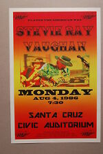 Stevie Ray Vaughan Concert Tour Poster 1986 Santa Cruz Civic Auditorium