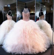 Pink Beading Quinceanera Dress Ball Gown Formal Prom Party Color Wedding Dresses