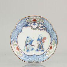 Edo Period Japanese Porcelain Plate Antique ko-Kutani ca 1660-80 Top Qua...