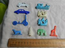 Vintage Plastic Cars,Scooter,Ships & Animals Toys 1960's