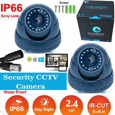 WATERPROOF Dome CCTV Camera 2.4MP Home Office Security System Night Vision UK