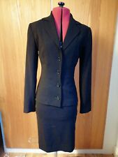DOLCE AND GABBANA Black Blazer And Fitted Skirt Suit