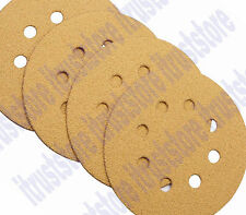 """4PC 5"""" ROUND HOOK AND LOOP BACKING SANDER SANDING PAD DISC 8 HOLE 60 GRIT COARSE"""