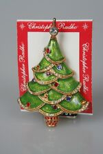 Stunning Christopher Radko Christmas Tree Pin Signed NEVER REMOVED FROM CARD