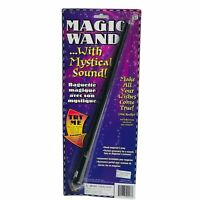 Wizard MAGIC WAND WITH LIGHT UP AND SOUND Wood Look Spell Casting Wizard