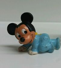 New listing Baby Mickey Mouse Crawling 1985 Plastic Figurine Vintage Bully Toy W Germany