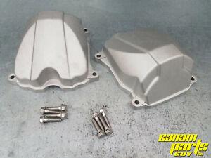 Can-am Cast Aluminum Valve Cover V-twin Set Metal Engine Rocker Cover Kit
