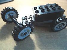 LEGO 32283 Black Top Grigio Base Pull-Back Motore + 4 TECHNIC RUOTE MOZZI Grigio