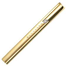 Zirconia, Part Matte, Men's Krawatten-Schieber, 333 Gold Yellow Gold,