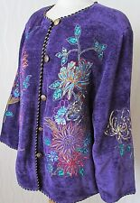 INDIGO MOON EMBELLISHED LONG SLEEVE HIPPY BOHO FESTIVAL JACKET COAT - SIZE 1XL