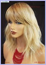 BEACHY WAVY CUT WIG  HEAT SAFE ROOTED SS1488  DARLING SEXY HOT US SELLER 1057 A