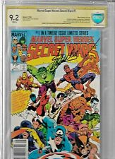 MARVEL SUPER HEROES SECRET WARS #1 CGC 9.2 SS WHITE PAGES SIGNED STAN LEE - RARE