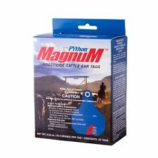 Y-Tex Python Magnum Insecticide Fly Tags Approved for Use on Dairy Cattle 20ct