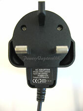 AC/DC MAINS REGULATED UK POWER ADAPTOR/SUPPLY/CHARGER/PSU 350MA/0.35A 12V