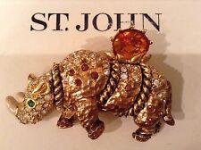 St John Collection.Designer Jewelry.Pin.Circus Rhino