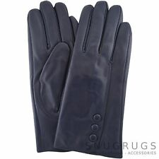 LADIES BUTTER SOFT REAL LEATHER GLOVES WITH 3 BUTTON DESIGN