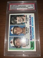 1982 Topps #21 Bob Bonner RC/Cal Ripken Jr Rookie Card/Jeff Schneider RC PSA 8