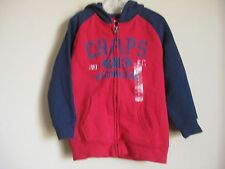 NEW WITH TAGS CHAPS BOYS HOODIE SWEATER RED ZIP UP SWEATSHIRT SIZE 5