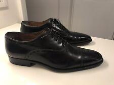 SANTONI Oxfords Black Leather Mens Lace Dress Shoes US  7 D