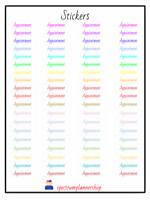 appointment sticker/ reminder sticker Sheets, Planner Agenda Stickers