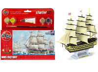 Airfix Starter Set HMS Victory Royal Navy Model Kit Paints & Brush Set A55104