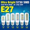 5730 LED Corn Bulb Lamp Cool/Warm White 110/220V E27 E26 Ultra Bright 7/9/15/25W