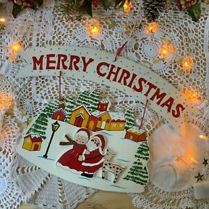 Cute Merry Christmas Vintage Wooden Signs - Hanging - Door - Christmas Décor