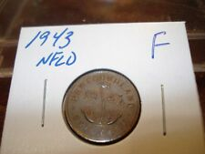 1943 - NFLD - Canada Penny - Circulated - Canadian one cent coin