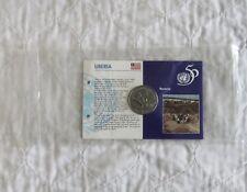Liberia 1995 Nazioni Unite B/UNC 1 DOLLARI-ancora SIGILLATO Nuovo di zecca Pack