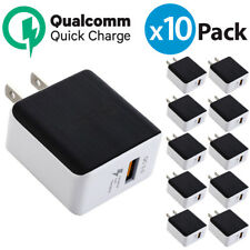 10x USB Wall Charger QualComm QC3.0 Quick Charger For iPhone X Samsung Galaxy S9