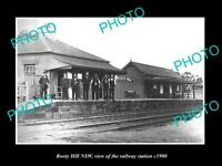 OLD LARGE HISTORIC PHOTO OF ROOTY HILL NSW VIEW OF THE RAILWAY STATION c1900