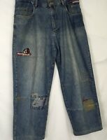 School Of Hard Knocks Mens Size 36 Distressed Straight Leg Jeans