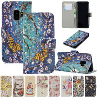 Magnetic Pattern Leather Card Wallet Case Cover for Samsung Galaxy S9/S8/S7 edge