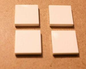 Genuine LEGO Lot of 4 White 2x2 Smooth Flat Tiles 306801 / 3068 **Free Ship USA
