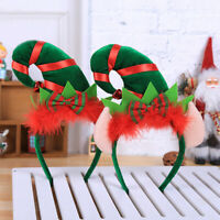 Christmas Headband Feather Elf Hair Band Clasp Headwear Head Hoop Xmas Gifts  lc