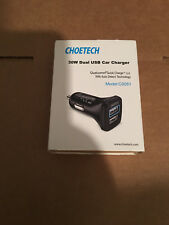 CHOETECH Dual USB QC 2.0 Car Charger Adapter 30W Fast Charge For iPhone Samsung