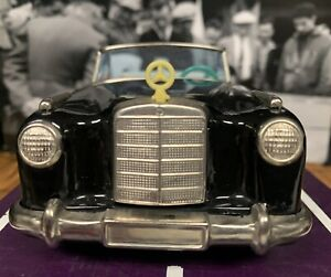 VINTAGE BANDAI 1958 MERCEDES BENZ CABRIOLET TIN FRICTION TOY CAR JAPAN AWESOME !