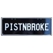 Novelty Number Plate - Pistnbroke White On Black AUS Licence Plate Sign Wall Art