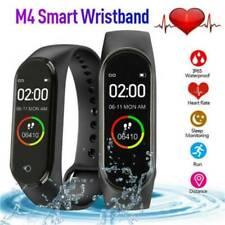 M4 Black Global Version Smart Wristband Watch Waterproof 50M OLED Touch Screen