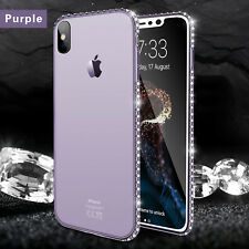 For iPhone X 8 7 6s Plus Luxury Diamond Ultra-thin Soft Silicone TPU Case Cover