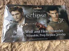"THE TWILIGHT SAGA ""ECLIPSE"" BELLA'S WOLF AND HEART BRACELET"